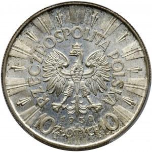 Piłsudski, 10 złotych 1939 - PCGS MS64