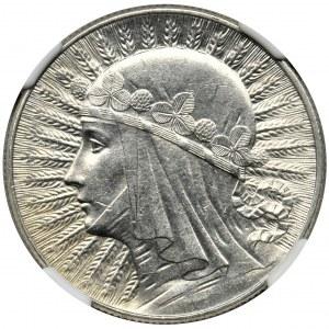 Głowa Kobiety, 5 złotych 1933 - NGC MS62