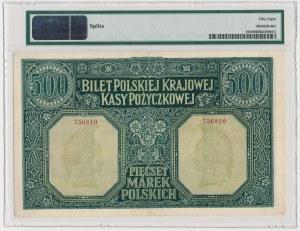 500 marek 1919 Dyrekcja - PMG 58 - znakomita nota
