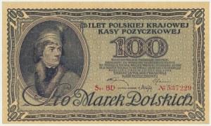 100 marek 1919 - Ser. BD - ładny
