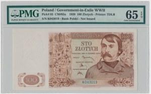 100 złotych 1939 - K - PMG 65 EPQ