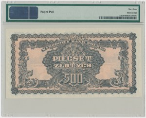 500 złotych 1944 ...owe - BH - PMG 64