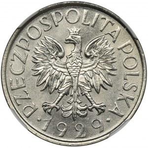 1 złoty 1929 - NGC MS66 - ZJAWISKOWA moneta w UNIKALNYM stanie