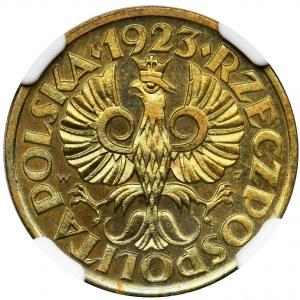 5 groszy 1923 Mosiądz - NGC MS66 - jak lustrzanka