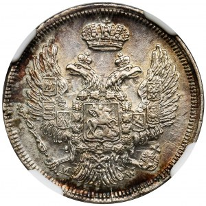 15 kopiejek = 1 złoty Warszawa 1835 - NGC MS62 - PIĘKNA