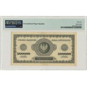 500.000 marek 1923 - H - 7 cyfr - PMG 55 EPQ