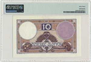 10 złotych 1919 - S.3.A - PMG 63 - liliowa klauzula - PIĘKNY
