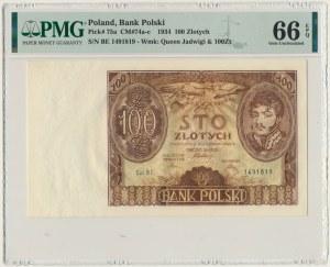 100 złotych 1934 - Ser.BE. - PMG 66 EPQ