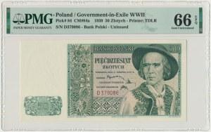 50 złotych 1939 - D - PMG 66 EPQ