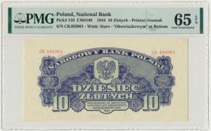 10 złotych 1944 ...owym - CK - PMG 65 EPQ
