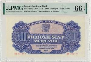 50 złotych 1944 ...owe - BH - PMG 66 EPQ - PIĘKNY