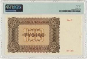 1.000 złotych 1945 - A - PMG 58