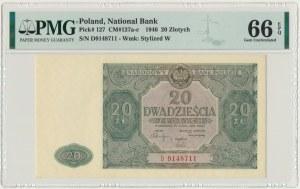 20 złotych 1946 - D - PMG 66 EPQ