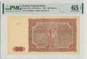 100 złotych 1947 - E - PMG 65 EPQ