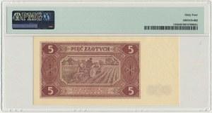 5 złotych 1948 - AA - PMG 64
