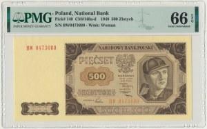 500 złotych 1948 - BW - PMG 66 EPQ