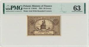 20 groszy 1924 - PMG 63