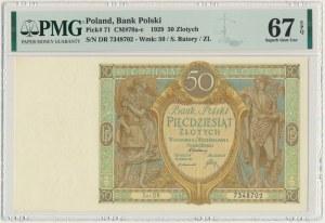 50 złotych 1929 - Ser.DR. - PMG 67 EPQ