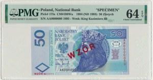 50 złotych 1994 WZÓR - AA 0000000 - Nr 1895 - PMG 64 EPQ