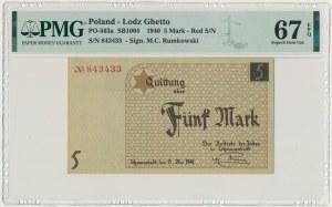 5 marek 1940 - numerator czerwony - PMG 67 EPQ