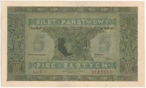 5 złotych 1926 - B - PIĘKNY