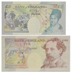 Wielka Brytania, Zestaw 5-10 funtów 1990-93 (2 szt.)
