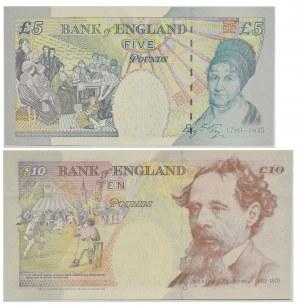 Great Britain, set of 5-10 pounds 1990-93 (2 pcs.)