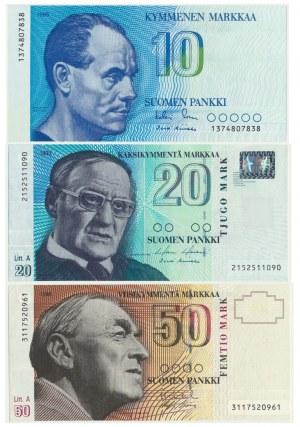 Finland, set of 10 - 50 markaa 1986 - 1993 (3pcs.)