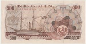 Austria, 500 schillings 1965