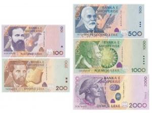 Albania, set of 100-2000 leke 1996-2007 (5 pcs.)