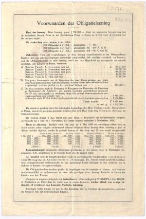 Archidiecezja Poznań (Posen), obligacja 1.000 guldenów, 1928