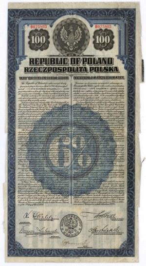 6% pożyczka dolarowa 1920, obligacja $100