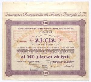 Towarzystwo Kontynentalne dla Handlu i Przemysłu 500 złotych