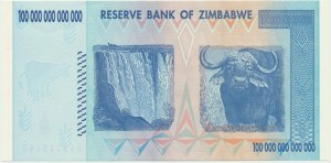 Zimbabwe, 100 trillion dollars 2008 - AA -