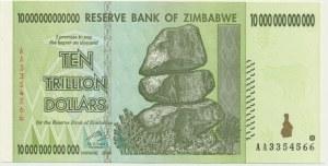 Zimbabwe, 10 trillion dollars 2008 - AA -