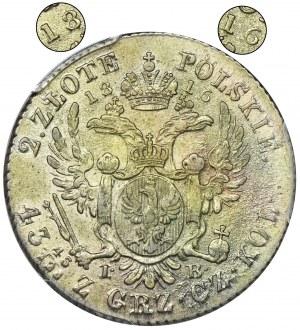 Królestwo Polskie, 2 złote polskie Warszawa 1816 IB - PCGS MS62