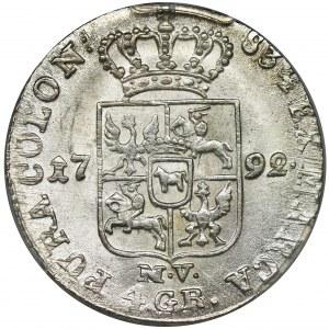 Poniatowski, 1 Zloty 1792 MV - NGC MS63