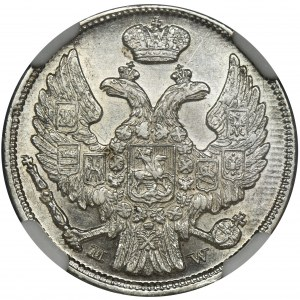 15 kopiejek = 1 złoty Warszawa 1837 MW - NGC MS62