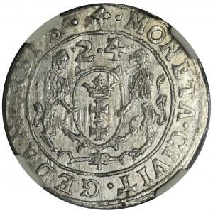 Sigismund III Vasa, 1/4 Thaler 1624/3 - NGC MS63 - PR•
