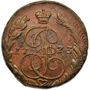 Rosja, Katarzyna II, 5 Kopiejek Jekaterinburg 1773 EM