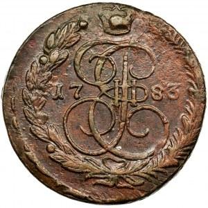 Rosja, Katarzyna II, 5 Kopiejek Jekaterinburg 1783 EM