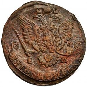 Rosja, Katarzyna II, 5 Kopiejek Jekaterinburg 1785 EM - ŁADNA