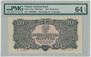 20 złotych 1944 ...owe - Ay - PMG 64 EPQ