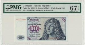 Germany, 10 mark 1960 - C - PMG 67 EPQ