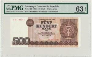 Germany (DDR), 500 mark 1985 - PMG 63 EPQ