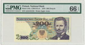 200 złotych 1976 - AA - PMG 66 EPQ - RZADKA