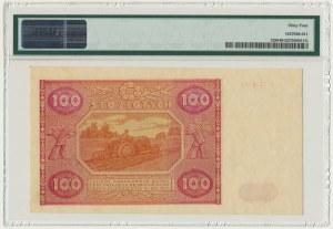 100 złotych 1946 - A - PMG 64 - rzadka pierwsza seria
