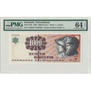 Dania, 1.000 koron 1998 - PMG 64 EPQ