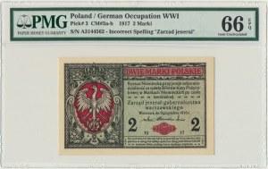 2 marki 1916 Jenerał - A - PMG 66 EPQ - WYŚMIENITY