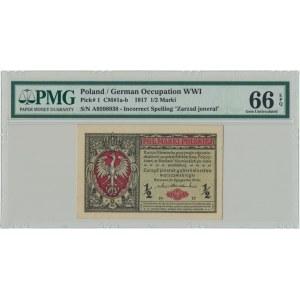 1/2 marki 1916 Jenerał - A - PMG 66 EPQ